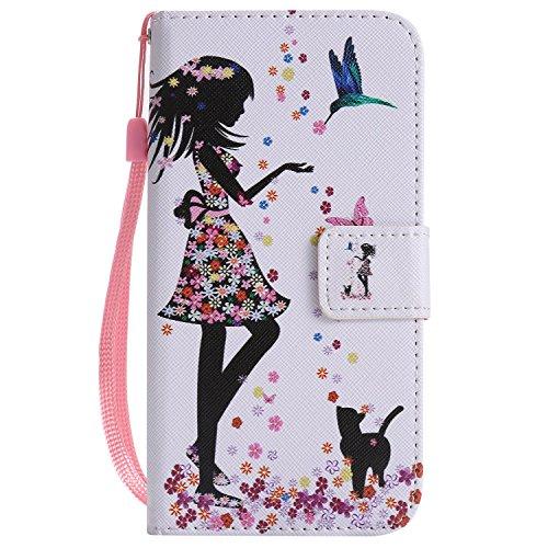 AmberMa Funda para iPhone 8, diseño de Funda para iPhone 8 [con Protector de Pantalla de Cristal Templado Gratuito]