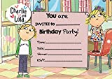 Charlie & Lola A5 Size Party Invitations - 20 Per Pack on Glossy Paper