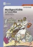 Musikgeschichte auf einen Blick: Eine illustrierte Zeitleiste von Bach bis zur Gegenwart (5. bis 13. Klasse)