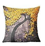 Fundas de cojines Sannysis Cama Inicio Alquiler Sofá decorativo almohada cubierta de la caja del amortiguador, 45 x 45 cm (G)