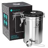 Coffee Gator Barattolo Porta caffè, Mantiene Il caffè Aromatico più a Lungo, Cucchiaino in Acciaio Inox Incluso, di Prima qualità