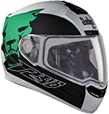 Steelbird Air Beast Full Face Helmet with Plain Visor (Matt White and Green, L)