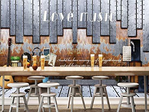 Gewohnheit Irgendeine Größe Europäische Und Amerikanische Nostalgische Wand Musik Thema Bar Café Hintergrund Wand Wandaufkleber Ausgangsdekor Tapete Wandbild