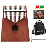 Kalimba 17 Keys Thumb Piano with Tuning Hammer and Accessories Ideal for Beginners