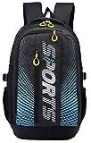 ZSbag Wasserdicht Viereckiger Rucksack Trendy Sport Laptoprucksack Studenten Geräumig Schultasche Junior Nylon Backpack (Schwarz)