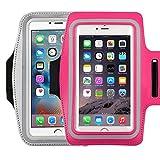 Brassard universel pour écran 14,5cm Apple iPhone 6/6s iPhone 6/6s Plus Samsung Galaxy S7/S6/S5/S4résistant à la transpiration Brassard de course avec petit support et pochette pour clé carte