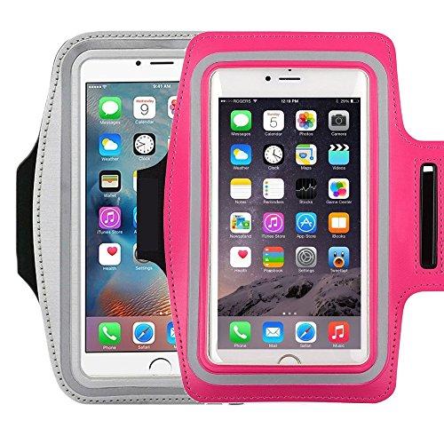 Universal Sportarmband für 14,5cm Bildschirm Apple iPhone 6/6S iPhone 6/6S Plus Samsung Galaxy S7/S6/S5/S4Schweiß-Running Armbelt mit kleinen Halter & Tasche für Schlüssel Karte (Trainer Schlüssel Pro)