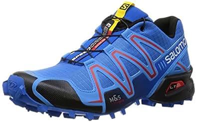 Salomon Men's Speedcross 3 Trail Running Shoe, Bright Blue/Process Blue/Radiant Red, 11.5 D US