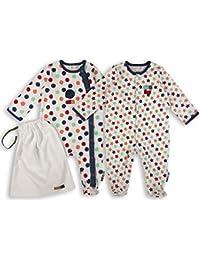 The Essential One - Baby Jungen Schlafanzuge/Schlafanzug/Einteiler/ Strampler (2-er Pack mit Beutel) - ESS167