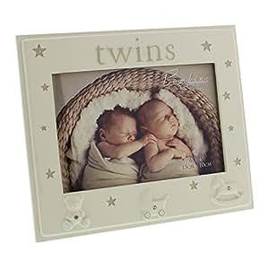 De bébés jumeaux avec cadre Photo pour bébé avec 2 motifs