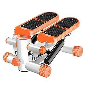 Stepper In-Situ Haus Gewichtsverlust-Maschinenpedalmaschine Freie Installation Fitnessgeräte Höhenverstellbar Last 110kg (Color : Orange, Size : 31 * 39.19.5cm)