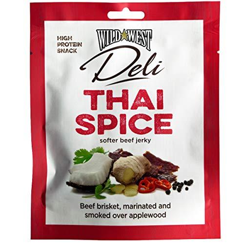 Wild West Deli Thai Spice Beef jerky Thailändisches Gewürz Geräuchertes rindfleisch 50g