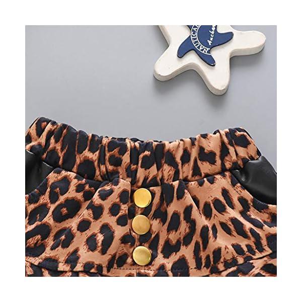 QinMMROPA Falda de Leopardo con Volantes para Bebes niñas Falda de tutú de Baile Casual de Fiesta 5