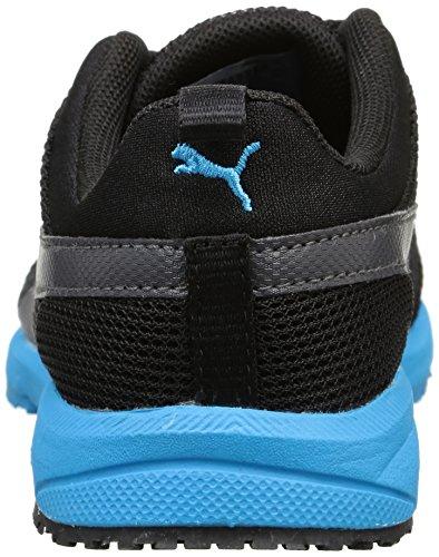 Puma Unisex-Kinder Carson Runner Jr Laufschuhe Black (Schwarz / Blau)