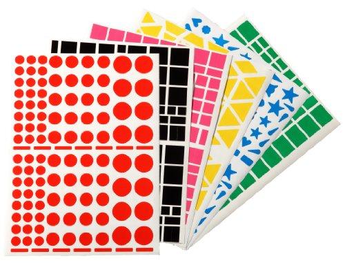 Apli 3636 - Etiquetas adhesivas de varios colores y formas