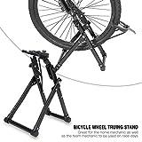 Fietsopberger, mountainbike fietsstandaard eenvoudig te monteren wiel kickhouder Centreergereedschap houder voor fietswielen straat bergsfiets gereedschap gereedschap onderhoud inklapbaar