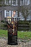 Unbekannt FIRE/Feuerkorb,schwarzpulverbesch./H.79cmD.53 cm