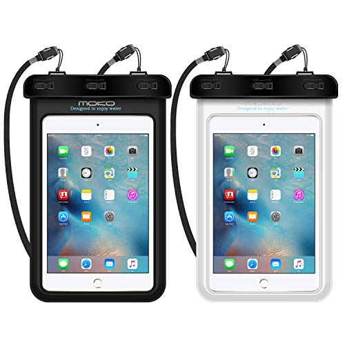 MoKo Wasserdichte Hülle, Staubdicht Handy/Tablet Tasche für iPhone X, 8, 8 Plus, 7 7 Plus, Galaxy Note8, Samsung Tab A 7.0 / S2 8.0, ASUS ZenPad S 8.0, Tablet (bis zu 8.4