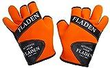 Fladen Authentic Wear Orange Neopren Handschuhe mit Split Finger Orange orange M