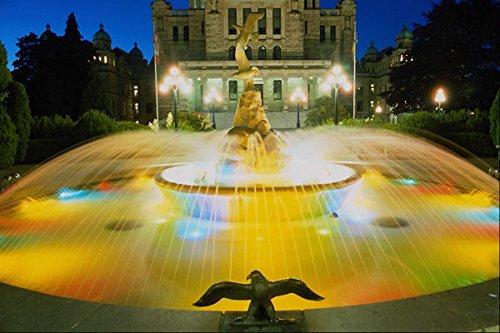 670042 Fountain And Legislative Buildings Victoria BC Canada A4 Photo Poster Print 10x8 - Legislative Building