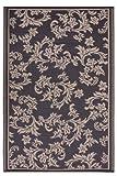 Fab Hab Versailles - Schokoladenbraun & Hautfarben - Teppich/ Matte für den Innen- und Außenbereich (90 cm x 150 cm)
