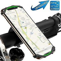 Support Téléphone Vélo & Moto avec Rotation 360°pour iPhone X/ 8 Plus/ 8/7 Plus, Samsung Galaxy S8/ S8 Plus/Note 8/ S7 Edge/ A7/ A5/ A3,4-6.5 Pouces Smartphone,GPS, Compatible Face ID/Touch ID