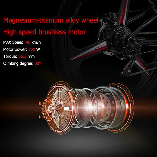51YA8t46tqL. SS500  - GTYW Electric Folding Bicycle Mountain Bicycle Moped 48V Lithium One Wheel Bicycle 26