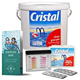 POOL Total Set Cristal Chlorgranulat 5,0 kg + Pooltester Ch/pH