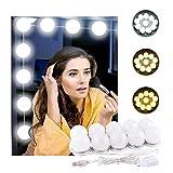Lumière de Miroir, Digyssal 10 Ampoules Hollywood Kit de Lumière LED Dimmable Lampe pour Miroir Cosmétique Salle de...