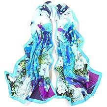 Bobury New Fashion Lady's Chinese Classic Beauty Print Silk Scarves Chiffon Scarf