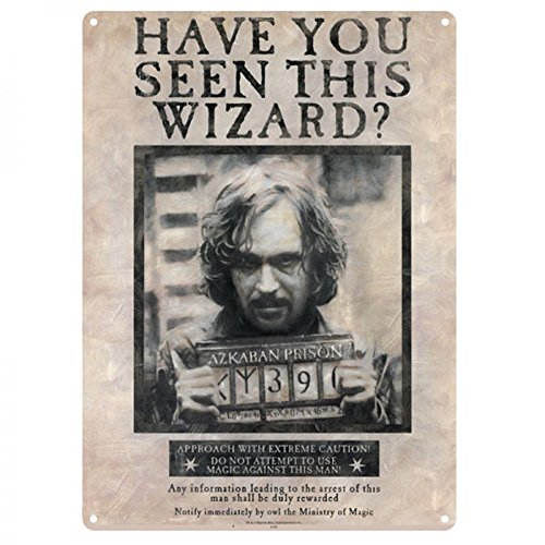 Harry Potter - A3 Blechschild - Sirius Black - Have You Seen This Wizard (Potter Harry Wizard Roben)