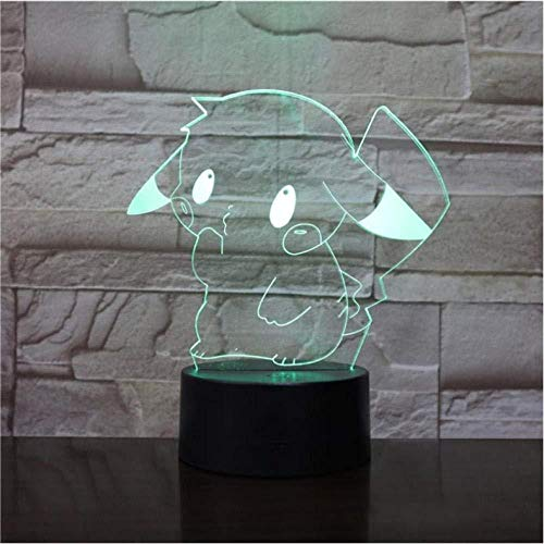 3D Illusion Nachtlicht Halloween Spiel Figuren Illusion Nachtlicht LED Glühbirne Mehrfarbige Kinder Kinderspielzeug Benutzerdefinierte Neuheiten Holographisches Geschenk Geschenk (LWEEHNF)
