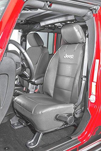 Jeep, coppia di coprisedili con logo ricamato 'Jeep', di colore grigio