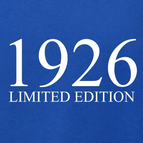 1926 Limierte Auflage / Limited Edition - 91. Geburtstag - Herren T-Shirt - 13 Farben Royalblau