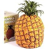 CKB Ltd®–Cubitera de aislamiento de 1500ml de piña Retro Vintage Hawaiian Fruit temática de pieza central–utilizar para botellas de Chill pero también se puede utilizar para hielo fruta Interrumpida y más
