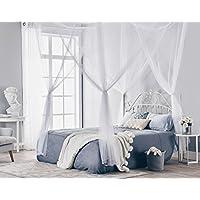 Truedays Four Corner Post Bett Prinzessin Baldachin Moskitonetz Full Netting, Königin / König Größe