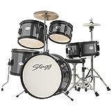 Stagg TIM JR 5/16 BK 5-teilig Junior-Schlagzeug schwarz