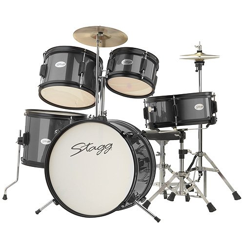 stagg-tim-jr-5-16-bk-5-piece-junior-drum-kit-black
