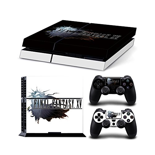 Sony Playstation 4 Haut Aufkleber Aufkleber-Set - Final Fantasy XV (2 Controller Aufkleber + 1 Konsole Aufkleber) - 2 Final Playstation Fantasy