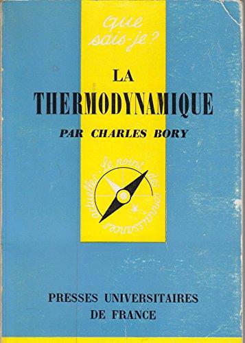 LA THERMODYNAMIQUE par P Chambadal