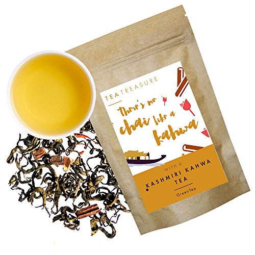 Tea Treasure Kashmiri Kahwa Loose Leaf Green Tea - 50 Gm