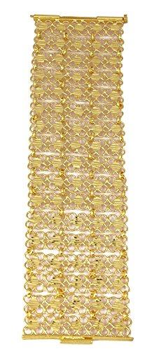 Matra 18K Goldplated Ethnische Bollywood Indische Frauen Handgelenk Armband Designer Schmuck