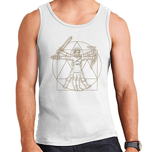 Zelda Vitruvian Link Men's Vest White