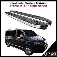 Schwellerrohre Alu Trittbretter T5 / T6 Langer Radstand ab 2003 Blackline 253