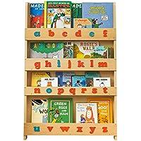 Tidy Books - Das originale Kinder-Bücherregal im Montessori-Stil mit Alphabet, Natur - Buchcover werden präsentiert - Ideale Kinderbücher-Aufbewahrung - 115 x 77 x 7 cm preisvergleich bei kinderzimmerdekopreise.eu