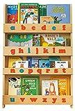 Tidy Books - Das originale Kinder-Bücherregal im Montessori-Stil mit Alphabet, Natur - Buchcover werden präsentiert - Ideale Kinderbücher-Aufbewahrung - 115 x 77 x 7 cm