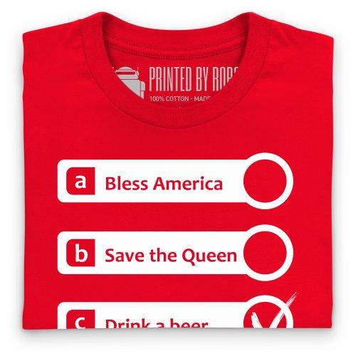 God Bless America T-Shirt, Herren Rot