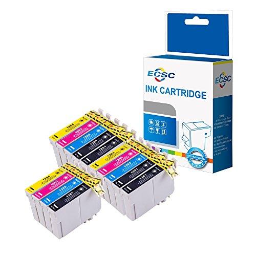 ECSC Cartuccia d' Inchiostro di ricambio per Epson Stylus Office BX305F BX305FW Plus BX305FW Stylus S22 SX125 SX130 SX230 SX235W SX420W SX425W SX435W SX440W T1285 (BK/C/M/Y, 14-Pack)