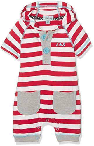 Baby Spieler Stripe Hooded Romper, Rot, 6-12 Monate (Hooded Romper)