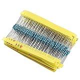 HALJIA 1/4W Ceramic Metal Film Resistors Kit Set 30 Values (10ohm - 1Mohm) x 20Pcs (600 Pcs)
